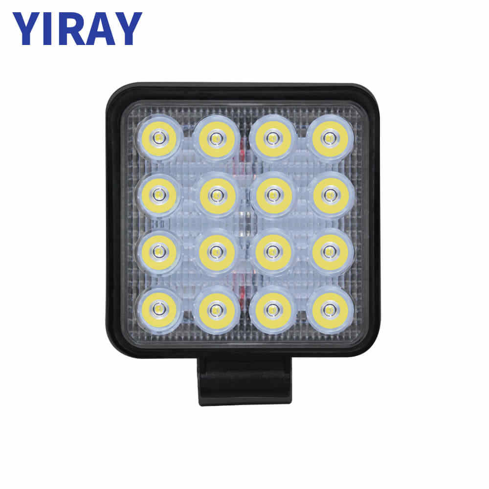YIRAY off road 48W led bar Work Light Bar For 24v 12v Car Accessories Spotlight For 4X4 SUV Jeep Truck Boat Bus Car Lamp weketor