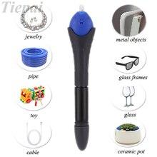 Tiepai 1PC 5 Second Fix UV Light Repair Tool With Glue Super Powered Liquid Plastic Welding Compound Pen Glass Glue Repairs Tool