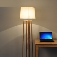 A1 The Nordic modern minimalist wooden floor lamp NEW Japanese living room bedroom study vertical solid wood lamps