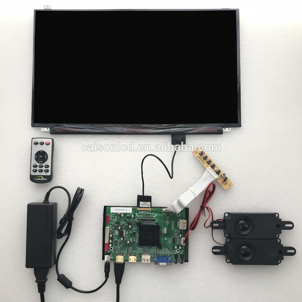 2HDMI+VGA+DP+Audio 4K board support DIY 17.3 inch lcd kits with 3840*2160