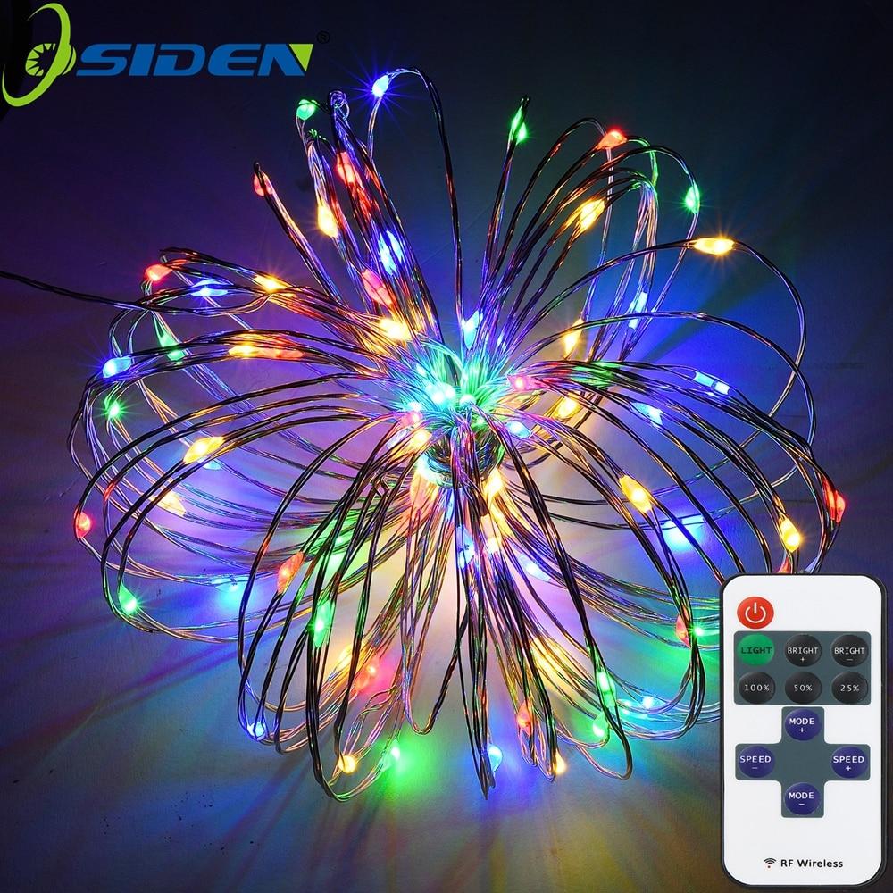 Xarici işıqlandırma işıqları 100 LED işıqlandırma işıqları 33ft mis məftil isti ağ rənglidir