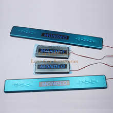 Stainless Steel Accessories For Ford Mondeo Fusion 2013 2014 2015 LED Scuff Plate Door Sill Cover