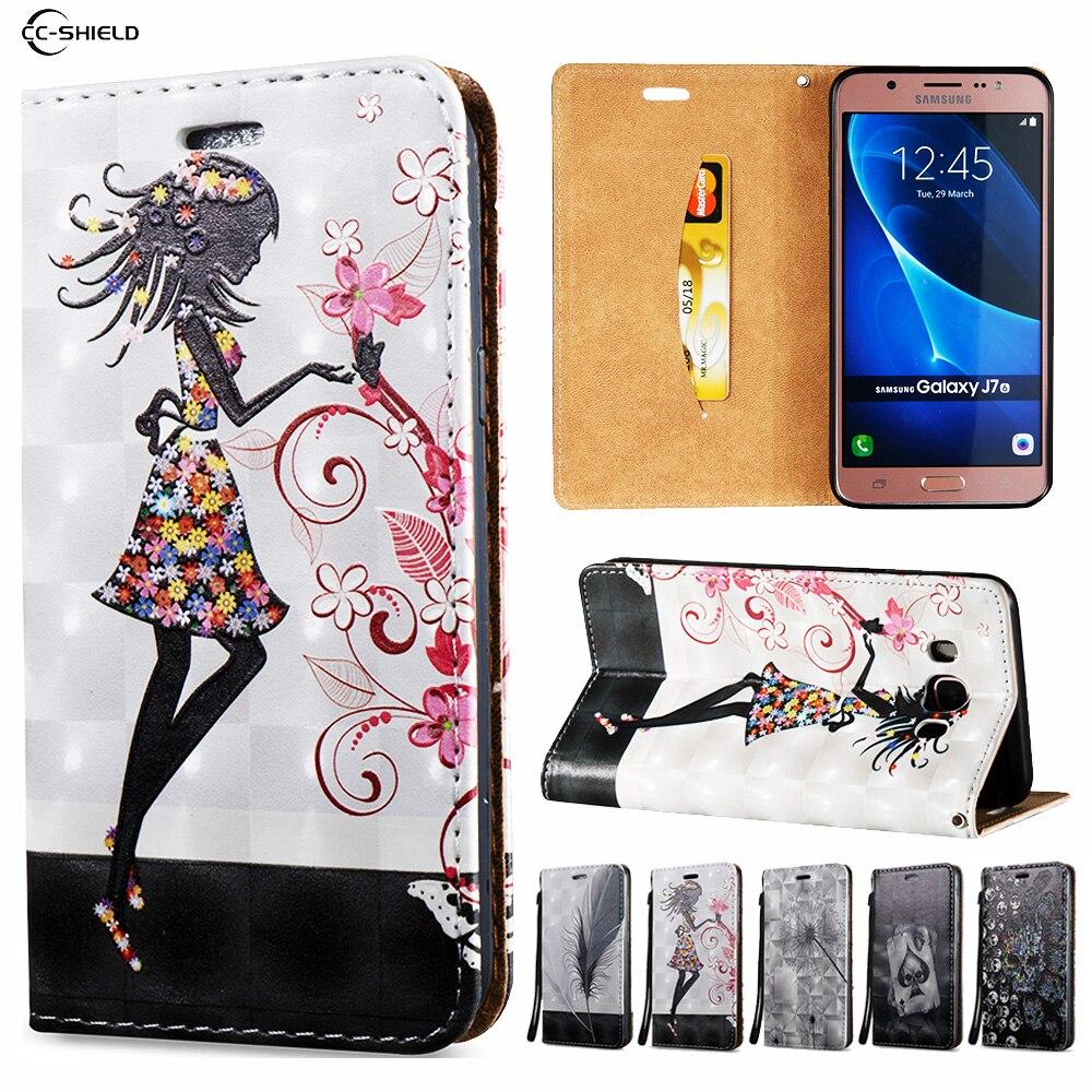 Flip Case for Samsung Galaxy J7 J 7 2016 J710FN SM-J710FN J710F SM-J710F SM-J710 Wallet Leather Case Stand Card Hold Phone Cover