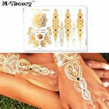 M-Theory 3D Metallic Gold Choker Makeup Temporary Tattoos Body Arts Flash Tatoos Stickers Swimsuit Tatuagem Bikini Makeup Tools