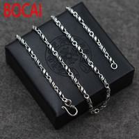 Thai silver necklace S925 South Korea and Retro Old Korean fashion wholesale sterling silver to create