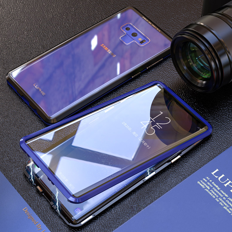 HTB1slZ9XLjsK1Rjy1Xaq6zispXag 360 Full Magnetic Case For Samsung Galaxy S8 Plus S8Plus S9 Note 9 8 Note9 Note8 Metal Bumper Glass Cover For Samsung S8 Case On
