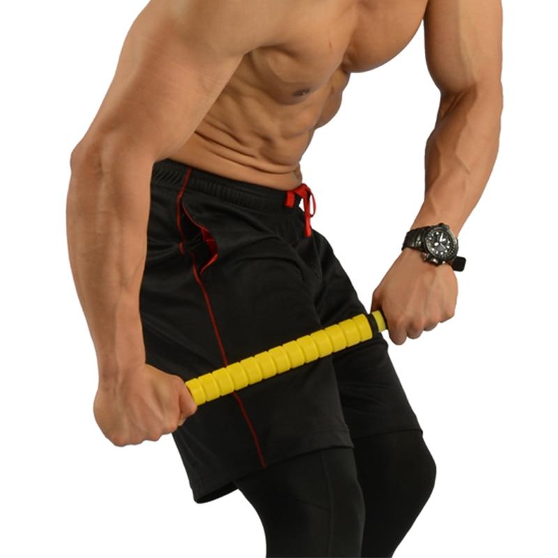 3 krāsu masāžas rullīšu jogas nūjiņas bāra muskuļu palaišanas punkts masāžas paliktnis Novērst tauku zaudēšanas svaru celulīta veselības aprūpē