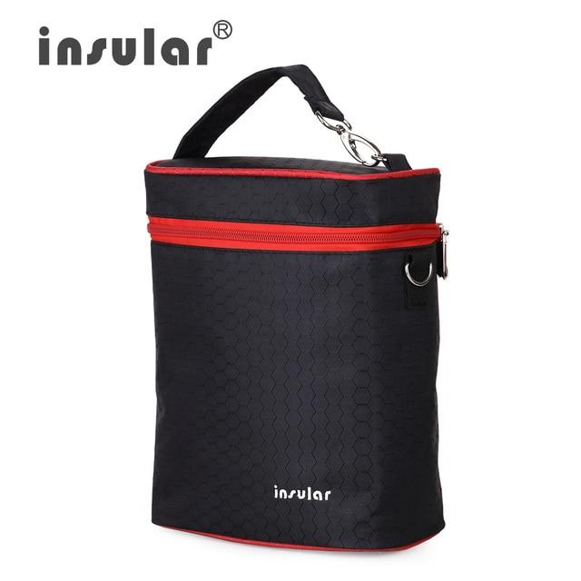Insular 420D Nylon Baby Feeding Bottle Insulation Bags Thermal Bottle Bags Nursing Mother Nappy Stroller Bag Cooler Bags