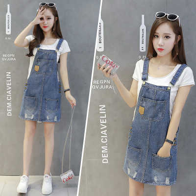6926c15d122 ... Plus Size summer Jeans Dress Women Washed sleeveless Suspender Denim  Dress Sundress Denim Mini Dress Female ...