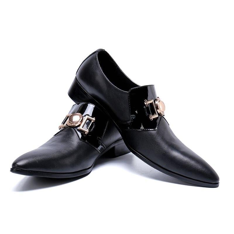 Décoration Marque Zapatos Chentel Hommes Cuir Décontractée Noble Appartements Taille Picture Chaussures Chaude Grand Respirant Métal Hombre En De As Conduite N80wmvOn
