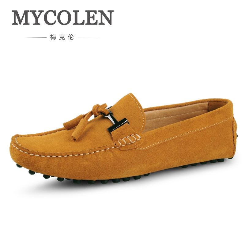 MYCOLEN Genuine Leather Loafers Men Tassel Loafers Moccasins Mens Italian Driving Shoes Slip On Classic Mens Casual Shoes mycolen men loafers leather genuine luxury designer slip on mens shoes black italian brand dress loafers moccasins mens
