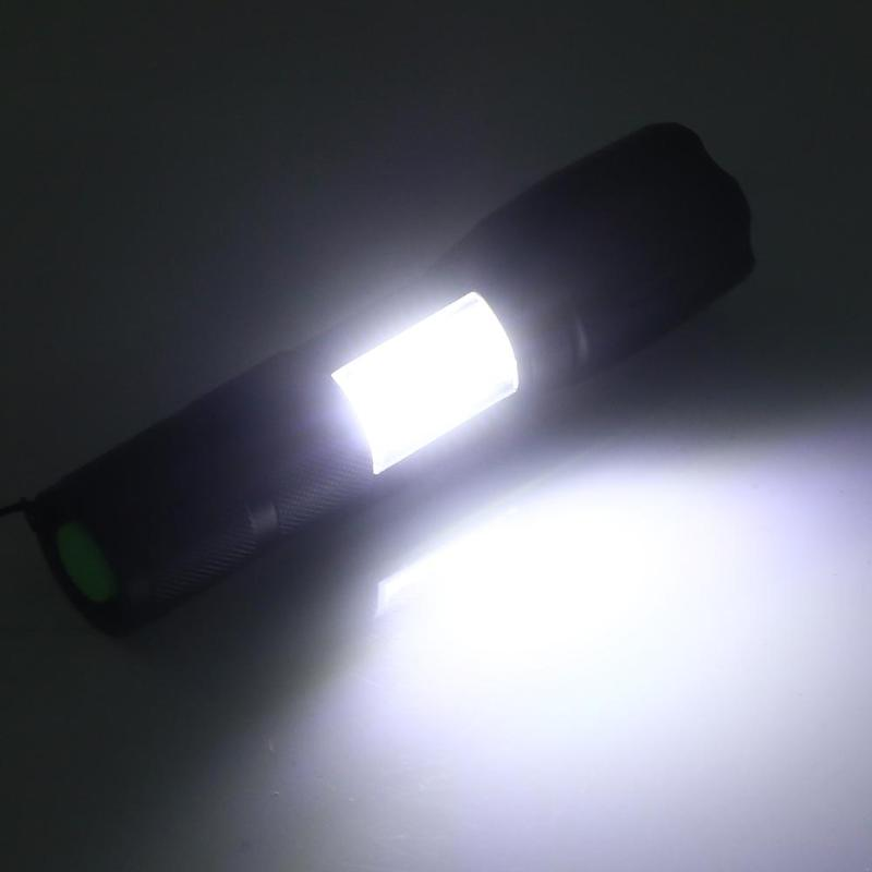 5W 500m Waterproof Aluminum Alloy Zoomable T6+ COB LED Flashlight Torch Repair Tactical Emergency Searching Camping Lamp
