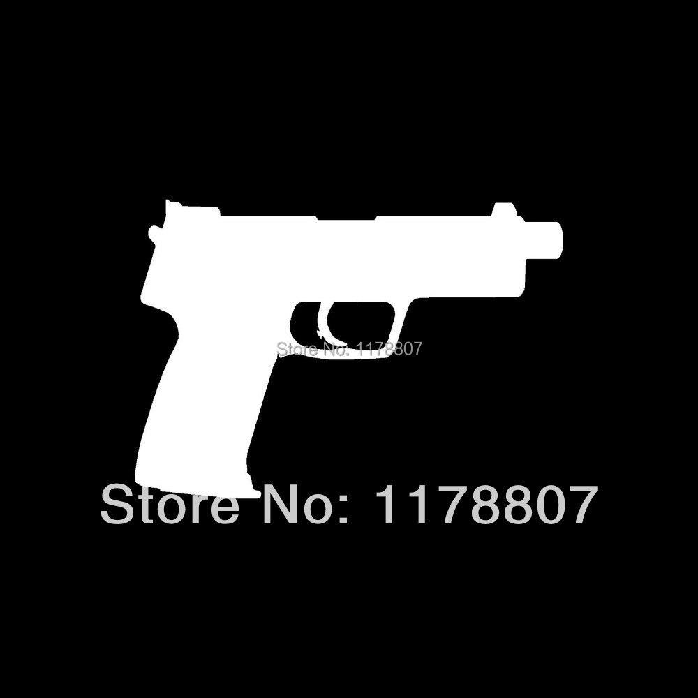Tactical handgun pistol sticker cal mm vinyl for