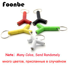 FOONBE Y Type 3.5mm Headphone Male To Dual Female Audio Cables Headphone Splitter Adapter Plug Stereo Earphone Splitters