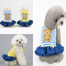 цена на Pet Dog Clothes Dress Soft Warm Puppy Overalls Chihuahua Teddy Dog Dress Winter Puppy Coat Clothing For Small Dogs  Bear Small