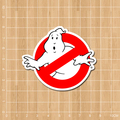 American movies Ghostbusters Logo Notebook/refrigerator/skateboard/trolley case/backpack/Tables/book sticker PVC sticker
