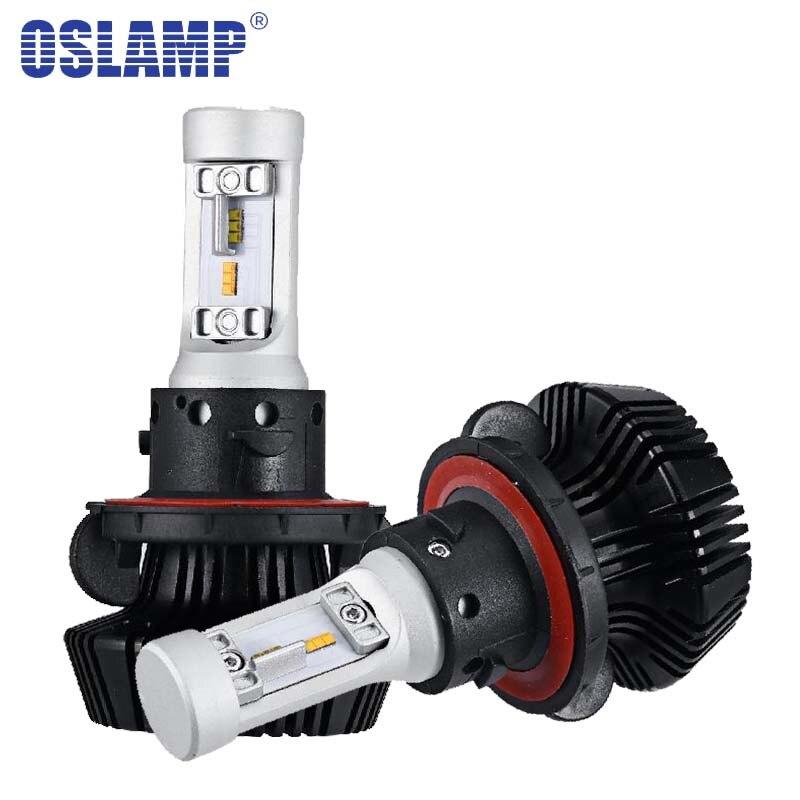 Oslamp CSP Chips LED Headlight Kits HB3 9005 H4 H13 HB4 9006 Automobile LED Car Bulbs SUV H7 H11 Fog Lamps Fan-less 3000K 6500K xencn h7 9005 hb3 9006 hb4 hi lo beam h4 led car bulbs 6000k csp chips 52w headlight kits auto h8 h9 h11 led 9012 fog lamps