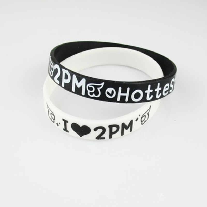 1 шт Kpop 2 июня. K Nichkhun силиконовые браслеты для Для женщин ювелирные браслеты B068