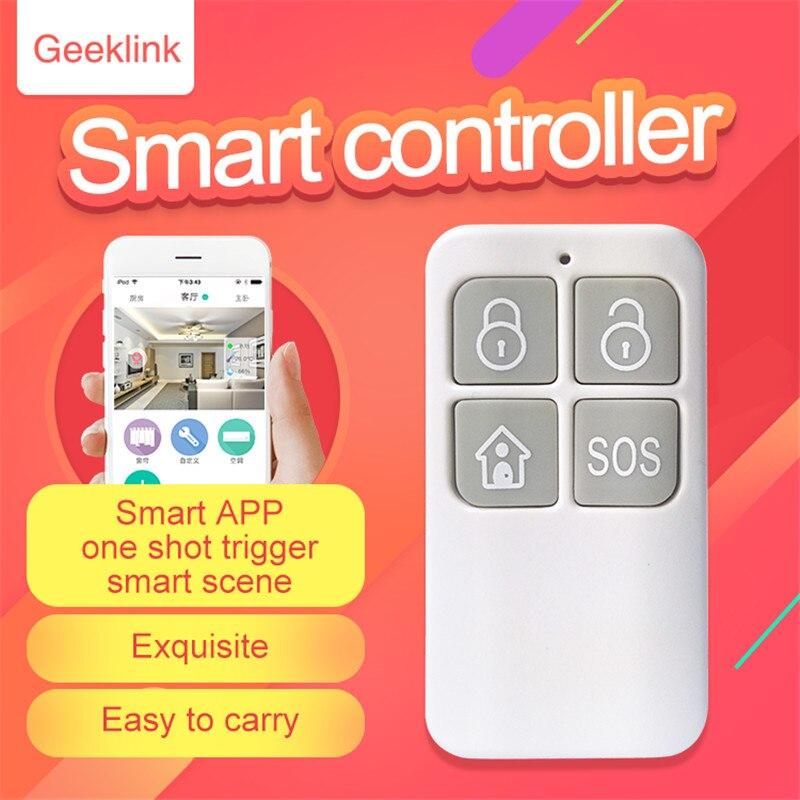 Geeklink Smart Afstandsbediening Maison Intelligente Draadloze GFSK SOS/Déploiement/Garnison/Scène om denker Hos Afstandsbediening 433 MHZ