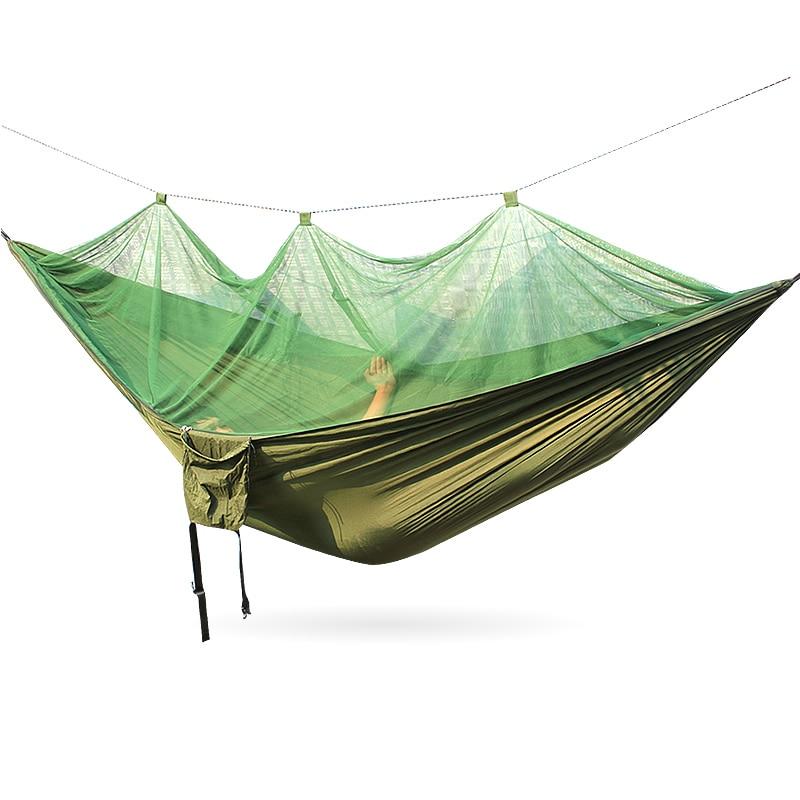 Mesh hammock 300*140cm 260*140cm Army Green Color camouflage army green hammock 260 140cm outdoor furniture loading 300kg
