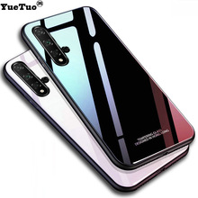 YueTuo luxury hard glass mirror case for huawei honor 20 pro lite 20i V20 view h