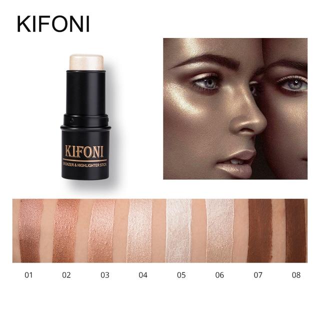 KIFONI бренд 8 цветов уход за кожей лица 3D контур хайлайтер Bronzer Stick макияж ручка Shimmer скрасить кожи подсветка корректор косметический