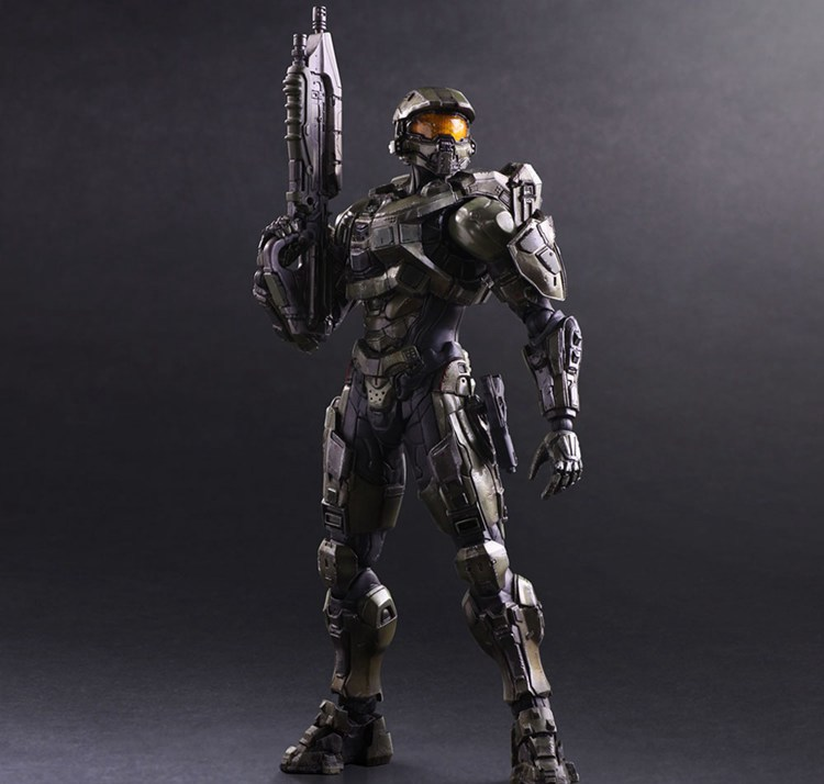 Play Arts Kai HALO Figure HALO 5 Guardians Master Chief Figure PA 25cm PVC Action Figure Doll Toys Kids Gift halo 5 guardians play arts reform master chief action figure