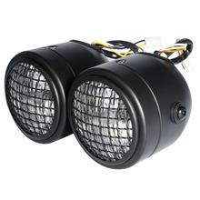 Matte Black/Chrome Front Dual Headlight Lamp Head Light For Sport motorcycle Streetfighter Cafe Racer Dirt Bike