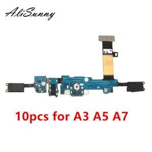 Image 1 - AliSunny 10 sztuk Port ładowania taśma do samsunga A3 A5 A7 2015 A300F A500F A700F 2016 A310F A510F A710F złącze stacji dokującej Mic