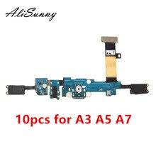 Alisunny 10 pçs cabo flexível porto de carregamento para samsung a3 a5 a7 2015 a300f a500f a700f 2016 a310f a510f a710f dock conector mic