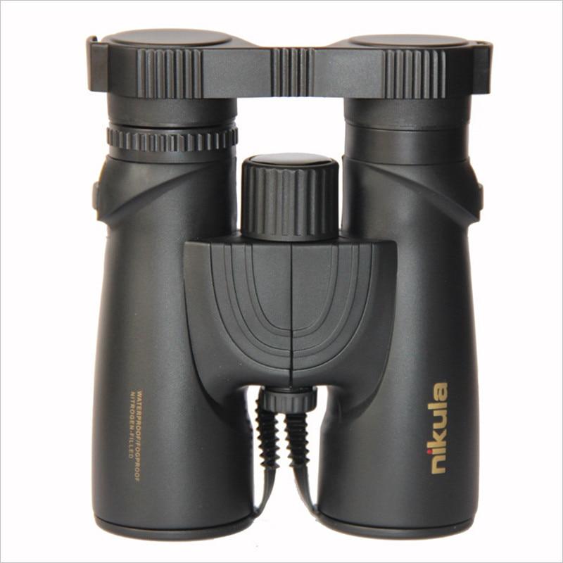 NIKULA 10X42 Binoculars Nitrogen Waterproof Telescope Spotting Scope Power Teleskop HD Big Vision compact Binocolo Bak4 Tourism  цены