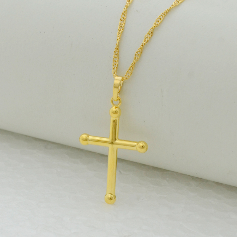 Anniyo Small Technicolor Simple Design Cross Necklace Pendant ...