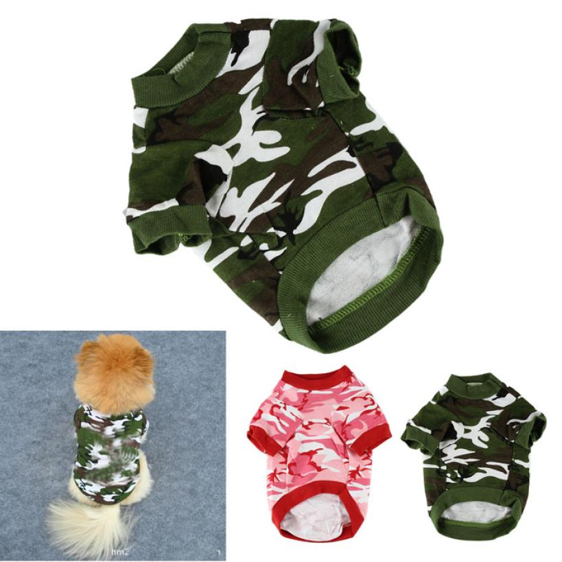 New High Quality Pet Clothes For Small Dog Hoody Apparel Puppy Doggy Camouflage Coat For Dog Ropa Para Perros Chihuahua Hot Sale