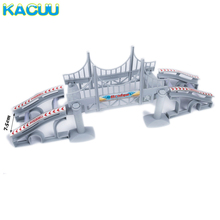Big Size Magical Glowing Race Track Diecasts & Toy Vehicles Accessories Bridge Racing Track Boys Girls Toy For Children Gifts