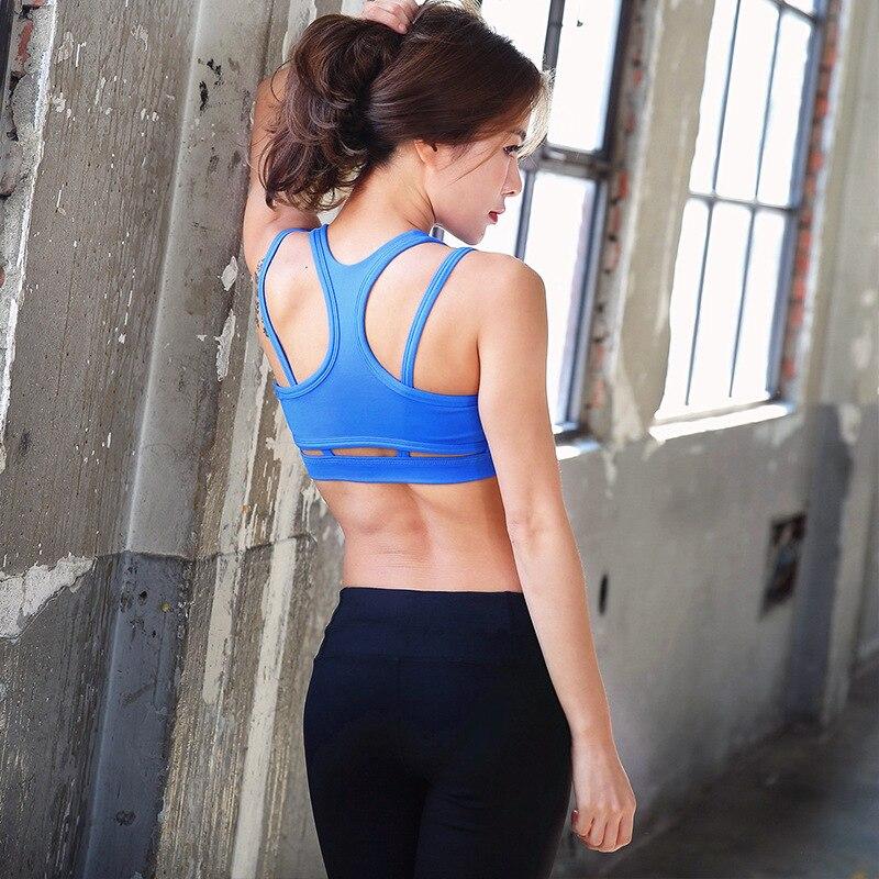 f1ff7c9aad4b4 New Women Cross Back Bra Shockproof Sport Bra No Bounce Versatile Athletic  Top Vest Running Fitness Pilates Barre Dance Wear-in Sports Bras from Sports  ...