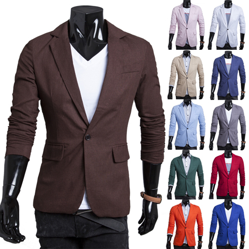 3b33a4414 Men Blazer 2017 New Arrival Single Button Trendy Mens Blazers Slim Fit  Linen Suits Korean Fashion Red White Blazer Jacket Cheap-in Blazers from  Men's ...
