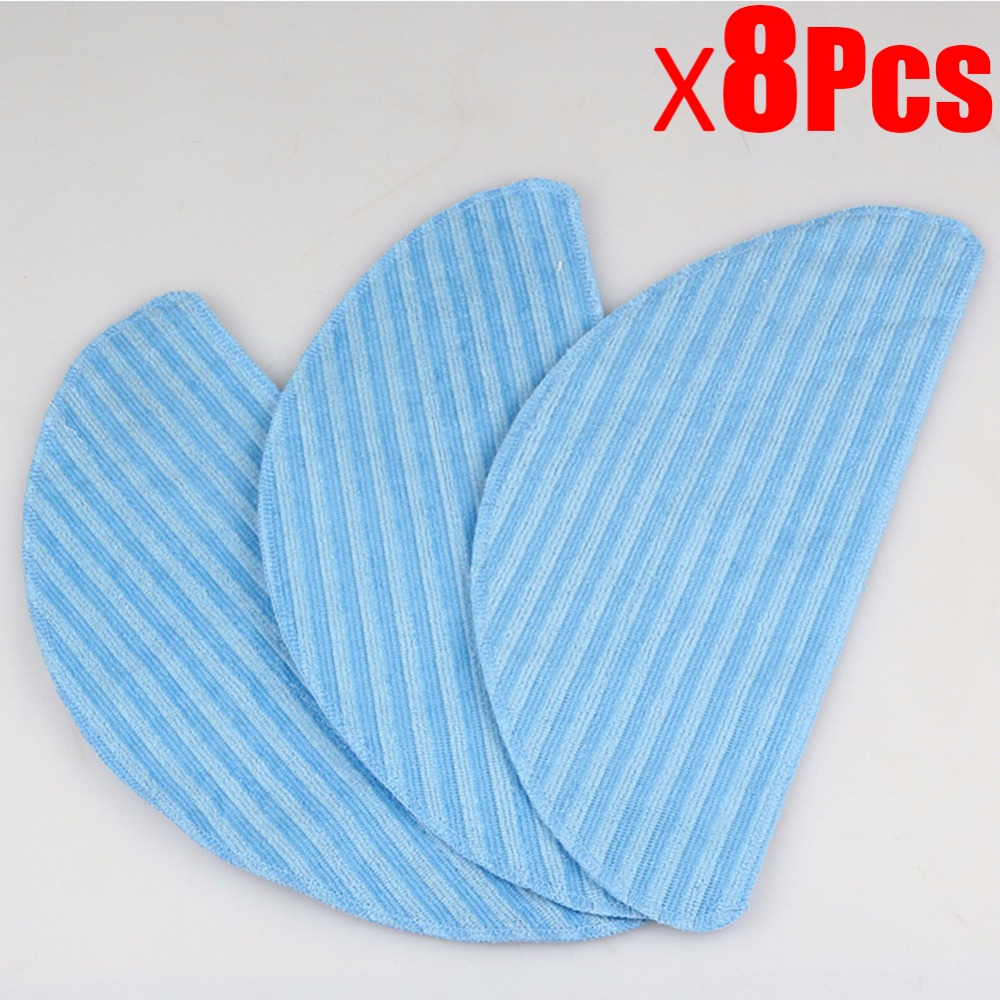 8Pcs Washable Replacement Mopping Cloth for Ecovacs CR120 cr130 CEN540 ML009 X500 X580 KK8 Cleaner parts Cloth Wet Dry Mopping подвесной светильник la lampada 130 l 130 8 40