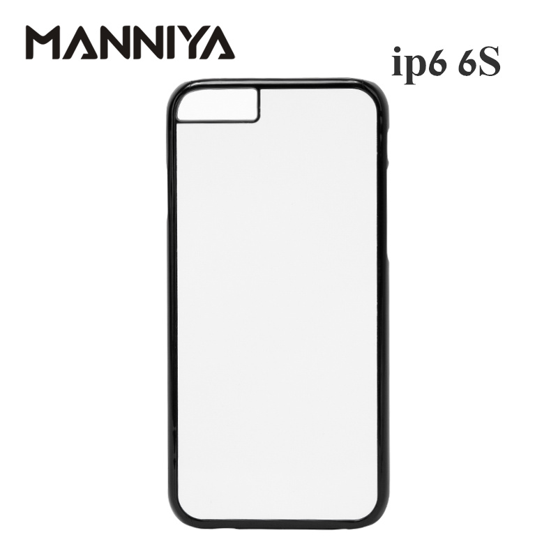 MANNIYA 2D Sublimation Blank Plastic Case for iphone 6 6s with Aluminum Inserts and tape Free