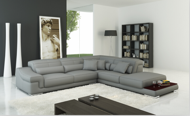 Genuine leather sofa set sectional sofa for living room for Latest design of sofa set for drawing room