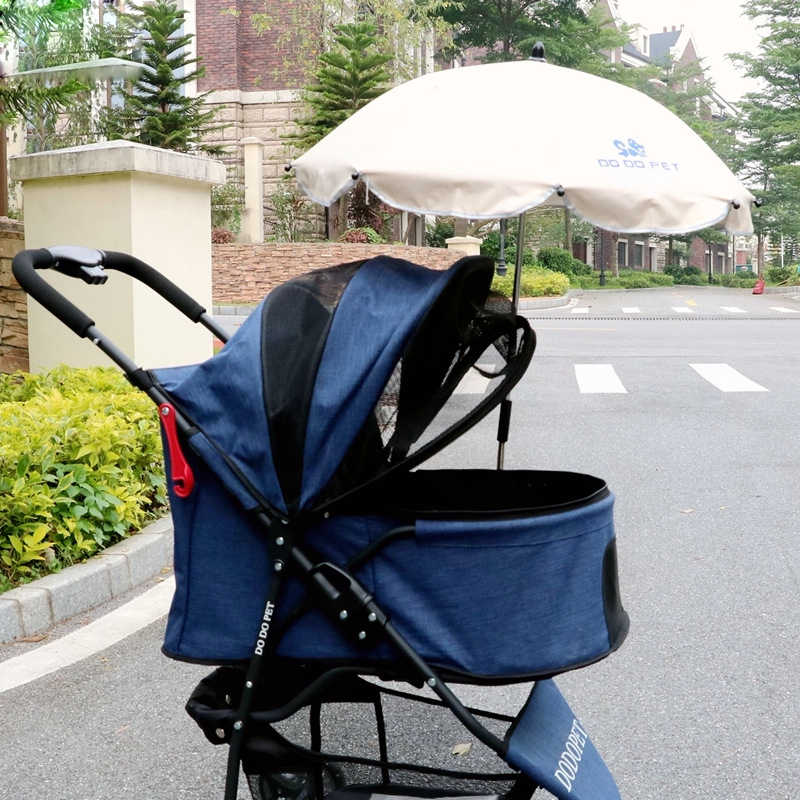 New Sunshade Umbrella For Dog Stroller/Carry Cart/Draw-bar Box Pet Stroller Accessories Anti UV/Rain Umbrella For Trolley Kennel