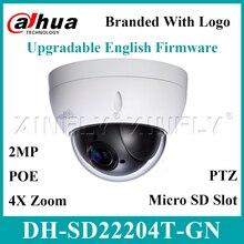 Dahua Original SD22204T GN IP Cámara 2MP red Mini domo PTZ 4X Zoom óptico soporte SD22404T GN de cámara de SD49225T HN