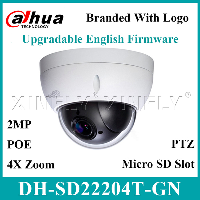 Dahua Original SD22204T GN IP Camera 2MP Network Mini PTZ Dome 4X Optical Zoom Support POE Camera SD22404T GN SD49225T HN