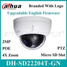 Dahua Originele SD22204T GN IP Camera 2MP Netwerk Mini PTZ Dome 4X Optische Zoom Ondersteuning POE Camera SD22404T GN SD49225T HN