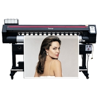 1 6 m Banner de formato grande de autoadhesivos de vinilo exterior Flex máquina de impresión de Color CMYK impresora de inyección de tinta Plotter con solvente ecológico XP600