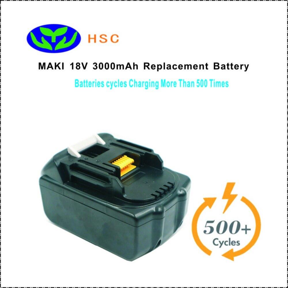 3000mAh 18650 Battery Pack Mak18B Lithium Battery18V Replacement Maki BL1830 LXT400 194309 1 BL1815 BL1835 Original
