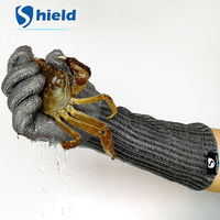 1 Pcs Anti Cut Safety Work Gloves Butcher Slaughter Woodworking Fishing Industry Hand Protective Steel Tactical Defense Gloves