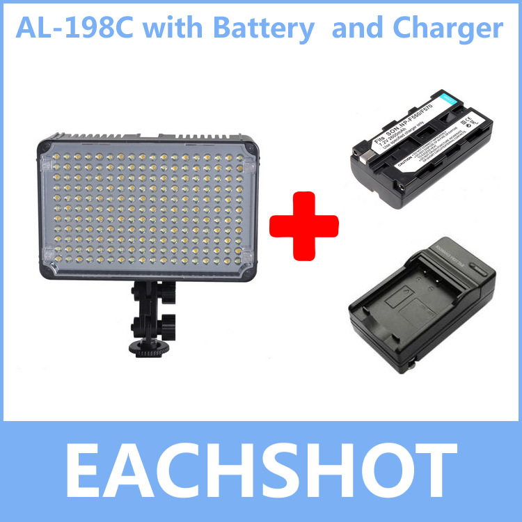 Aputure AL-198C, Amaran AL 198C LED Video Light Camera lighting Color Temperature Adjustment With Battery and Charger