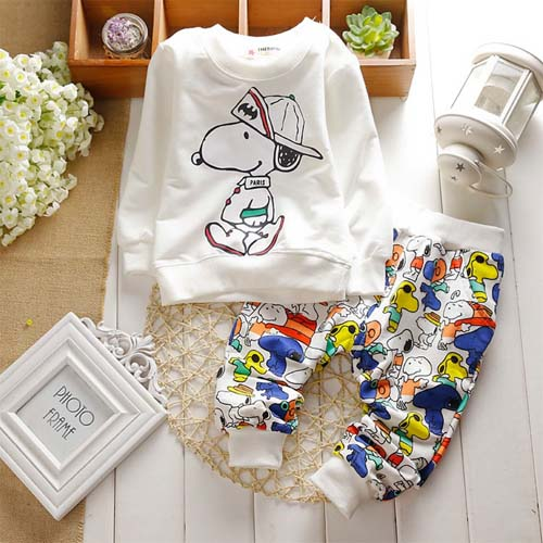 New Spring Baby Clothing Sets Children Boys Girls Kids Suits Tracksuits Cotton Long Sleeve Shirt + Pants 2pcs