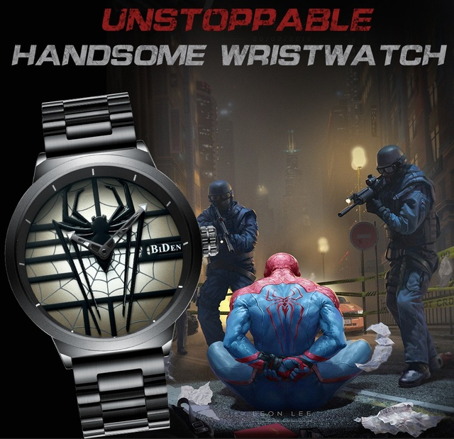 Red Spider Stainless Steel Wristwatch - Waterproof 5