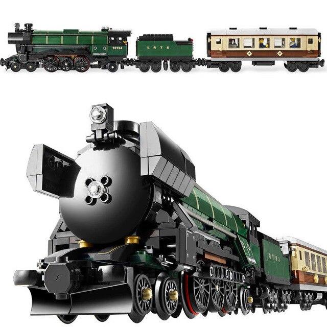 21005 Technic Série Émeraude Nuit Train Modèle Kits de Construction Briques Jouets pour Enfants cadeau Compatible avec lego 10194